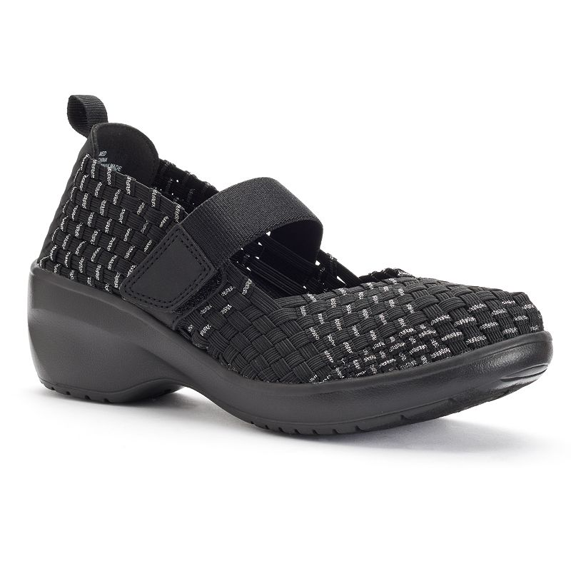 Croft & Barrow® Women's Comfort Woven Mary Jane Wedges