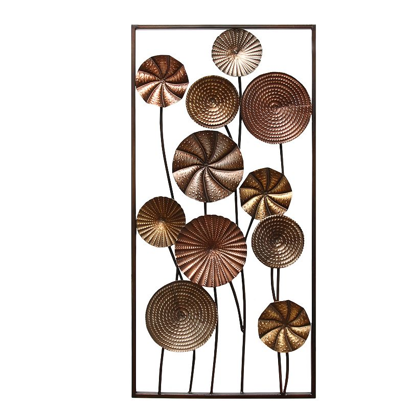 Stratton Home Decor Metallic Flower Panel II Wall Decor