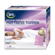 Serta 4-in. Deep-Pocket Pillow Top & Memory Foam Mattress Topper