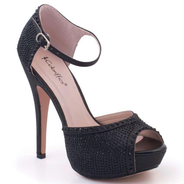 Coloriffics Valentine Women's Ankle Strap Platform High Heels