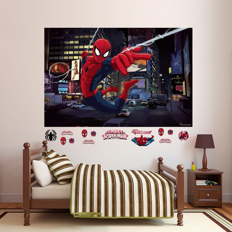 Ultimate Spider-Man Mural Wall Decal by Fathead 99382863