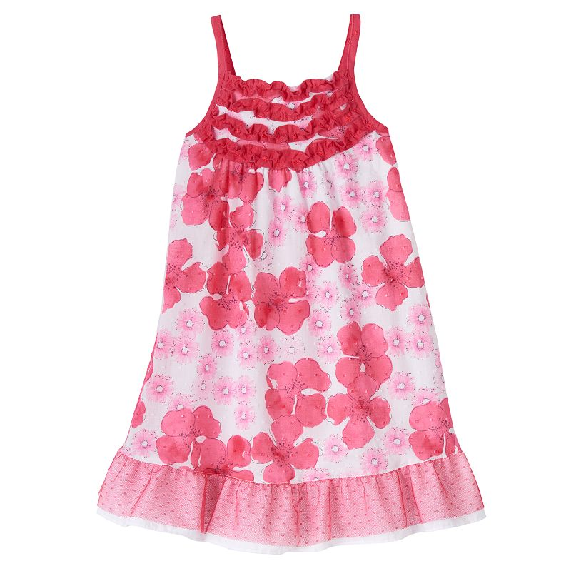 Penny M Floral Ruffle Dress - Toddler Girl