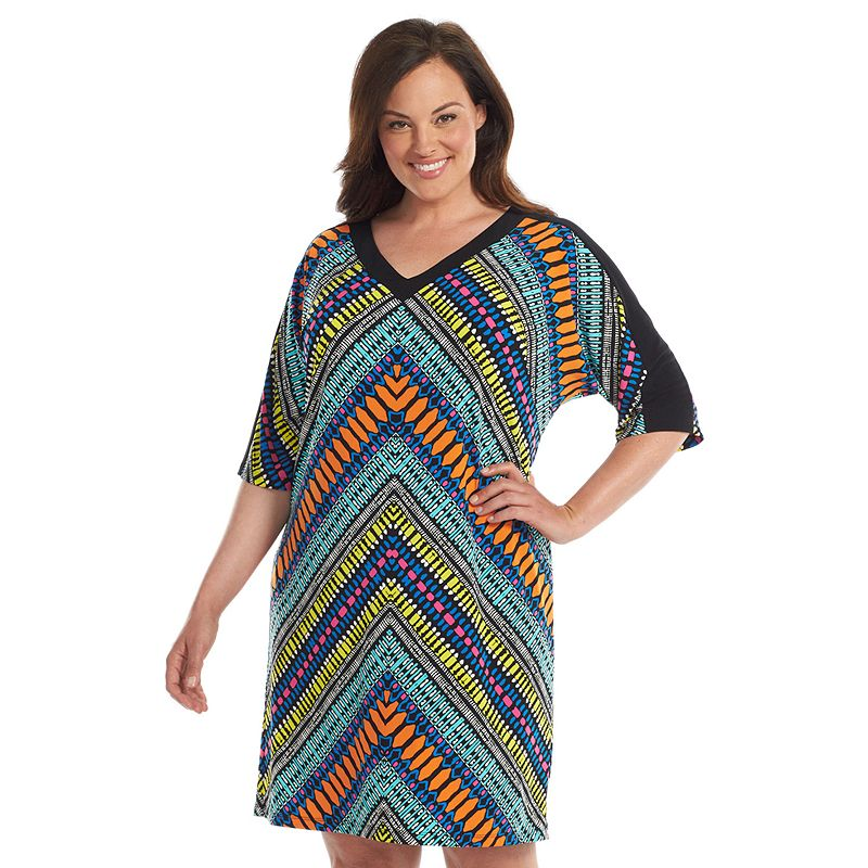 Plus Size Suite 7 Colorblock Dolman Dress