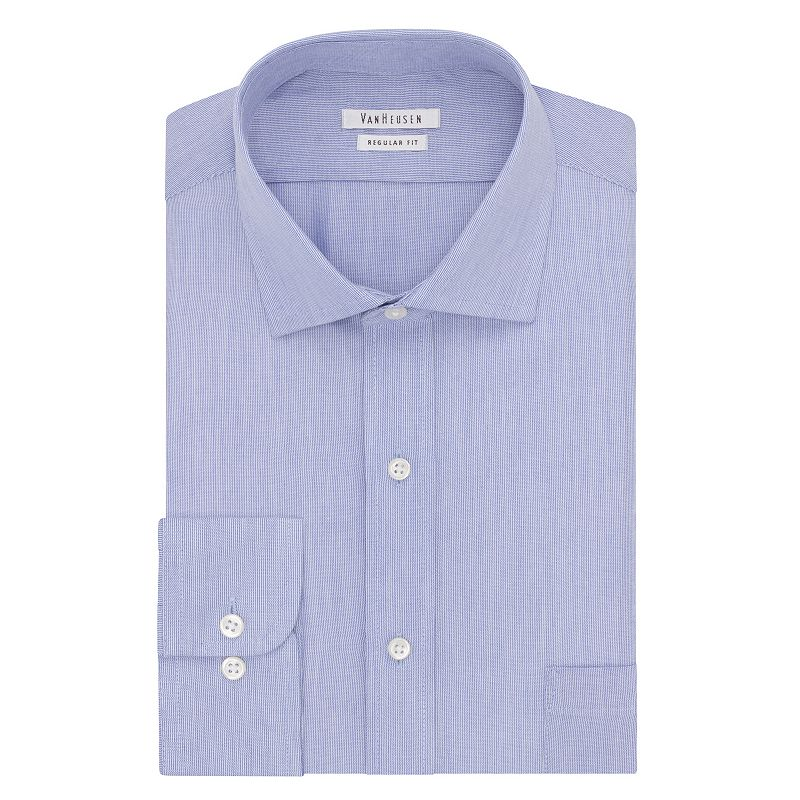 Men's Van Heusen Regular-Fit Striped Cutaway Collar Button-Down Collar Dress Shirt