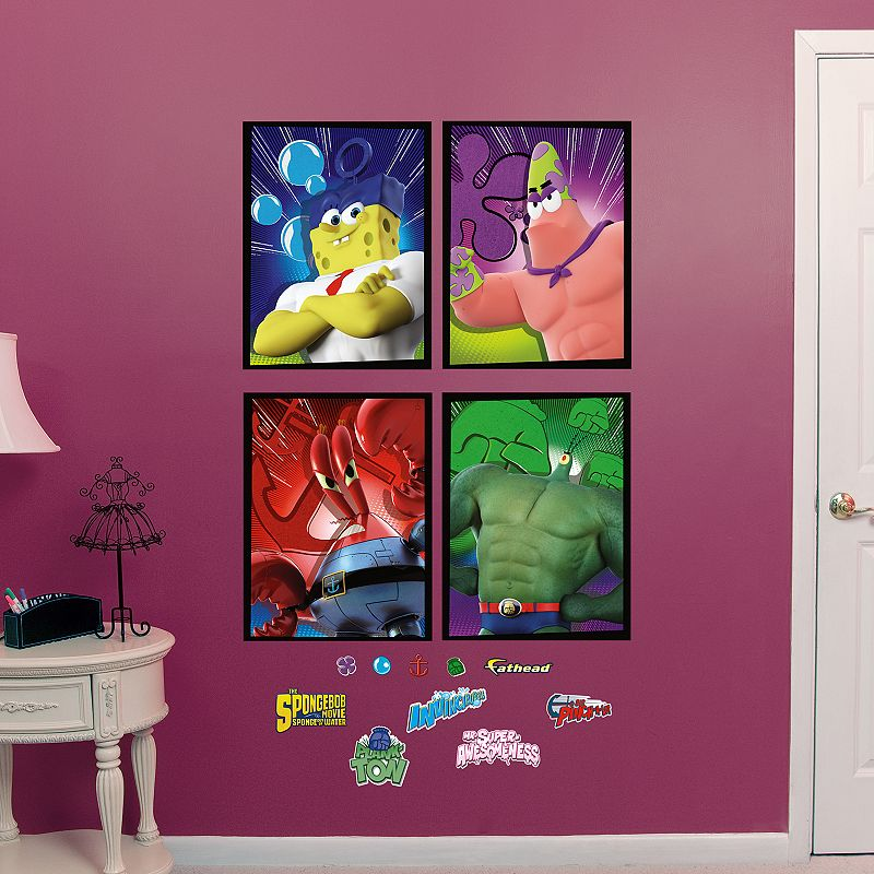 SpongeBob SquarePants Out of Water Portraits Collection Wall Decals by Fathead