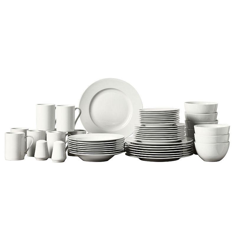 Gallery 50-pc. Round Rim Dinnerware Set