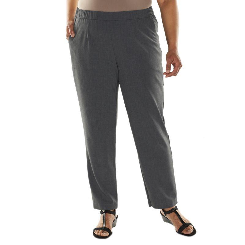 Plus Size Croft & Barrow Career Pull-On Pants, Women's, Size: 16W SHORT, Grey