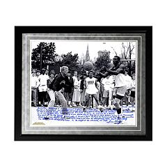 Steiner Sports Notre Dame Fighting Irish Lou Holtz Basketball vs. Tim Brown Facsimile 16\ by