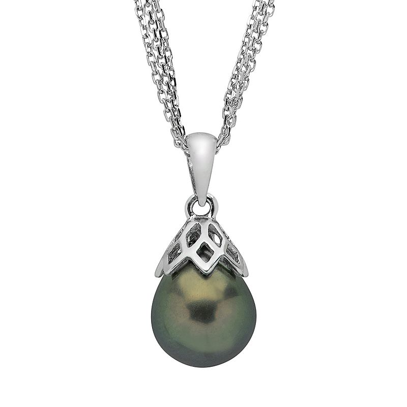 PearLustre by Imperial Tahitian Cultured Pearl Sterling Silver Multistrand Pendant