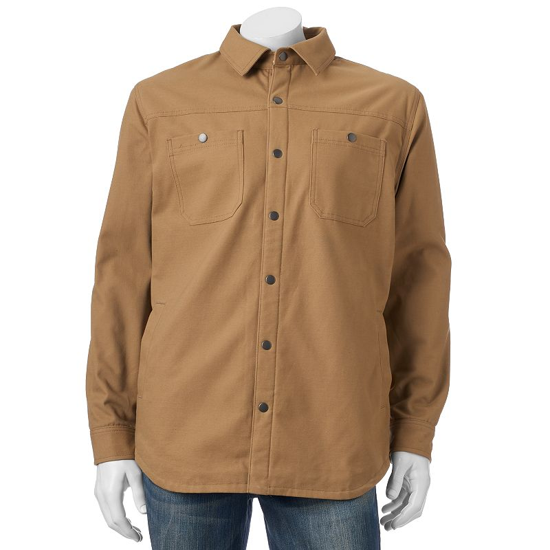 Big & Tall Croft & Barrow® Solid Outdoor Shirt Jacket