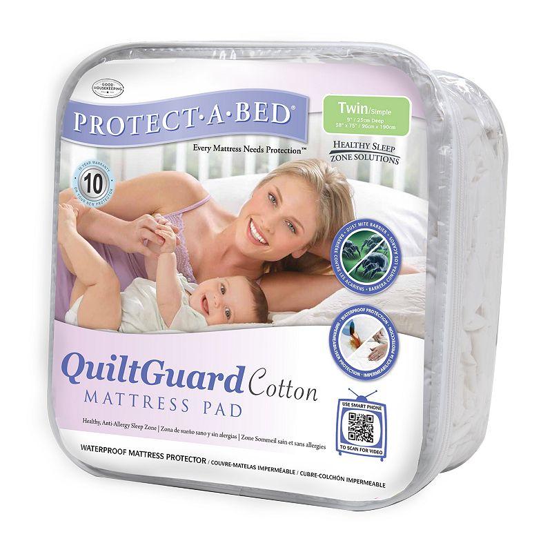 Protect-A-Bed QuiltGuard Cotton Mattress Pad