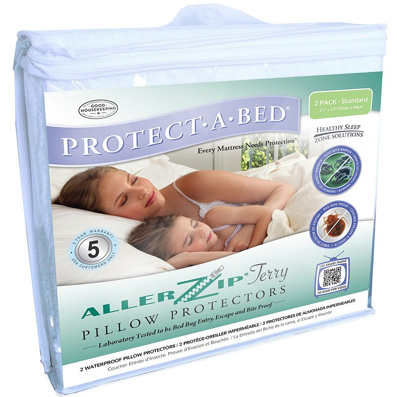 Protect-A-Bed AllerZip 2-pk. Terry Pillow Protectors