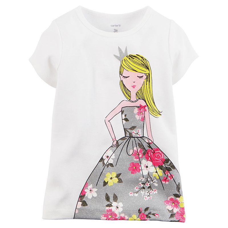 Baby Girl Carter's Girl in Floral Dress Short-Sleeve Tee
