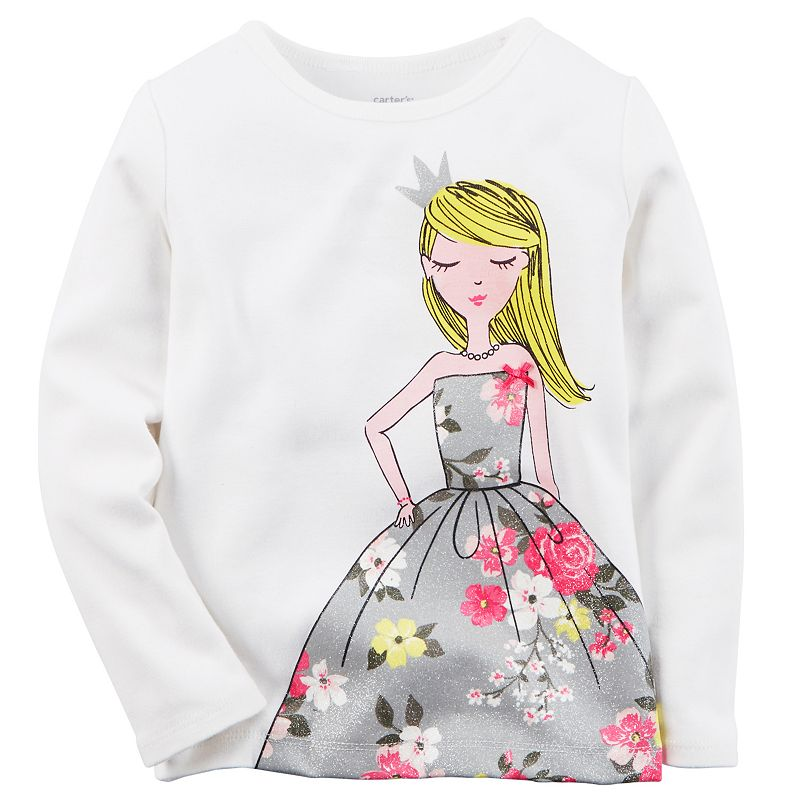 Baby Girl Carter's Girl in Floral Dress Long-Sleeve Tee
