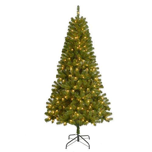 St. Nicholas Square 7-ft. Pre-Lit Artificial Christmas Tree