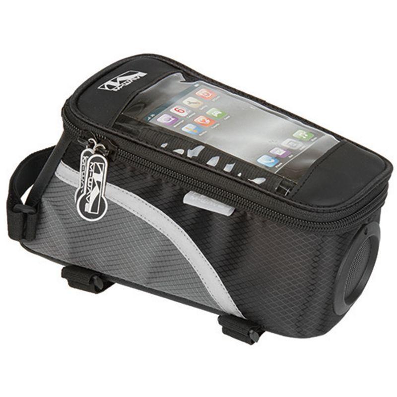 M-Wave Rotterdam Smartphone Speaker Bike Bag, Black thumbnail