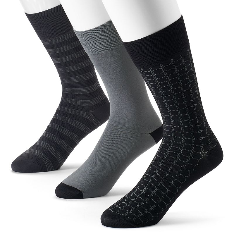 Men's Marc Anthony Patterned Micofiber Dress Socks