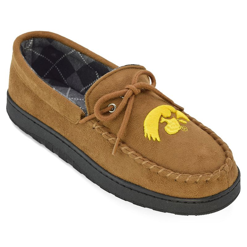 Men's Iowa Hawkeyes Argyle-Lined Microsuede Moccasins