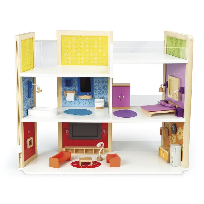 Hape DIY Dream House Dollhouse Set, Multicolor