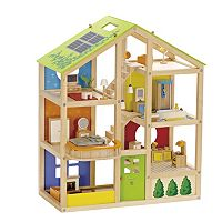 Hape Furnished All Season Dollhouse Set