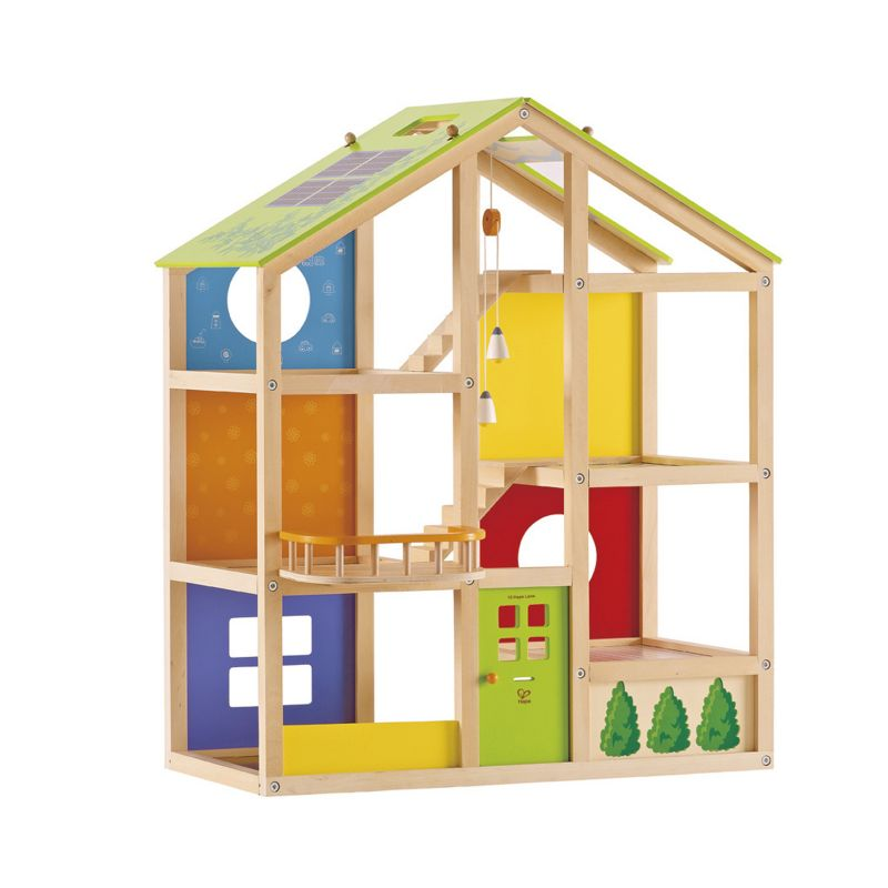 Hape All Season Dollhouse, Multicolor