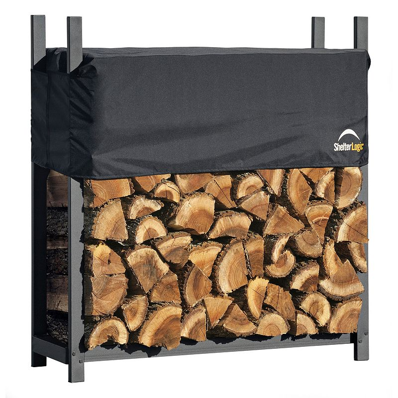 ShelterLogic Firewood Rack-In-A-Box 4-ft. Covered Ultra Duty Rack