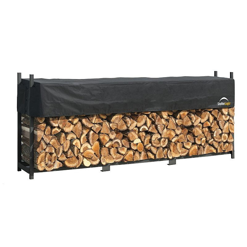ShelterLogic Firewood Rack-In-A-Box 12-ft. Covered Ultra Duty Rack