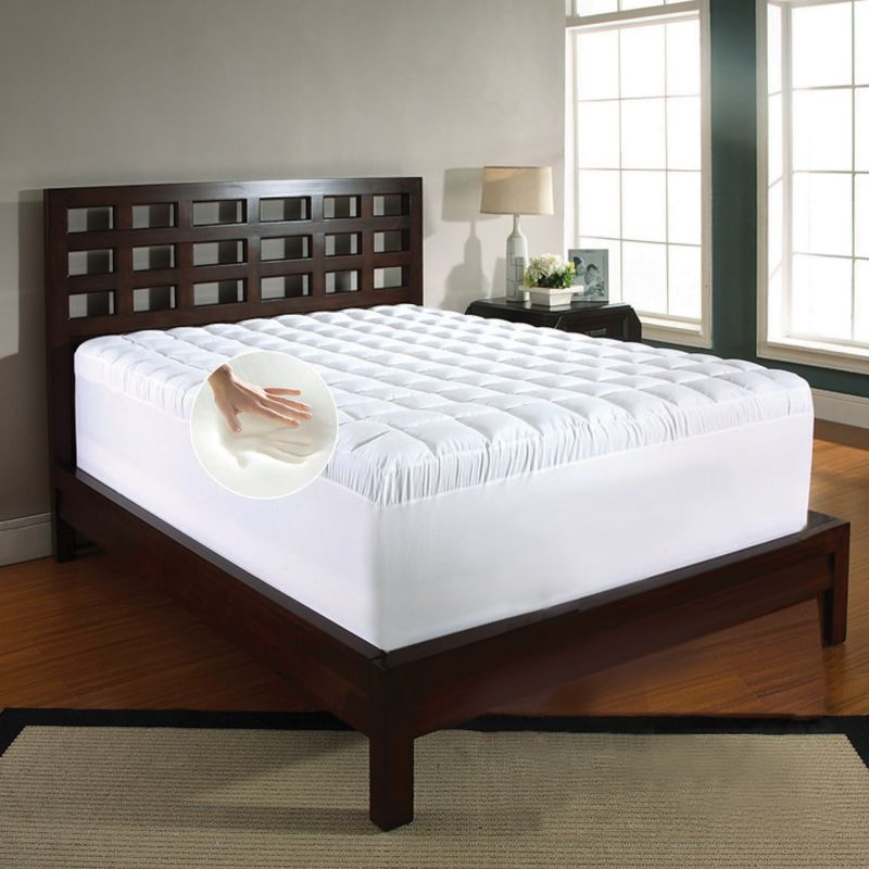 Memory Foam & Fiber 5 1 2 in Mattress Topper
