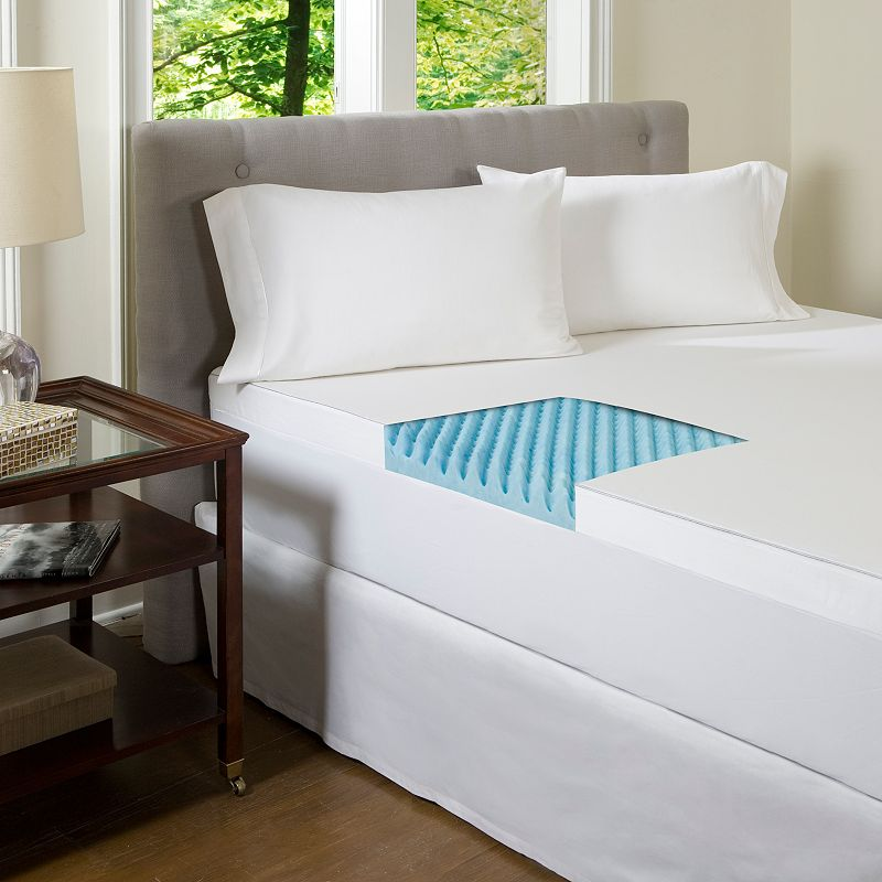 ComforPedic Beautyrest 4-in. Textured Gel Memory Foam Mattress Topper