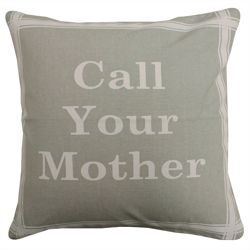 Park B. Smith ''Call Your Mother'' Throw Pillow