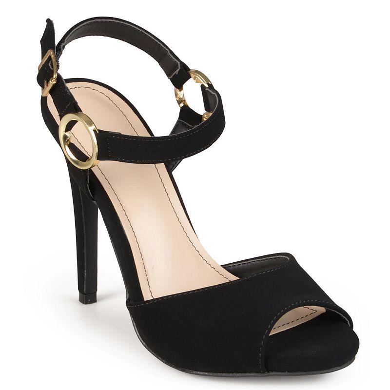 Journee Collection Newbee Women's Peep-Toe High Heels