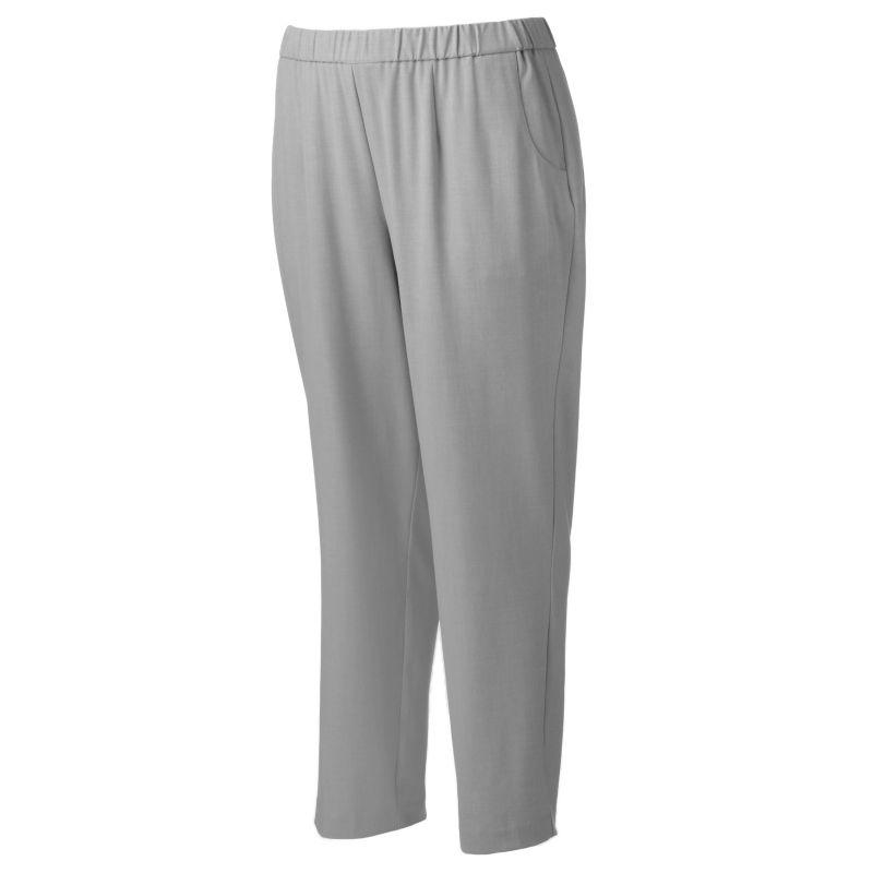 Plus Size Croft & Barrow Career Straight-Leg Pants, Women's, Size: 16W SHORT, Grey