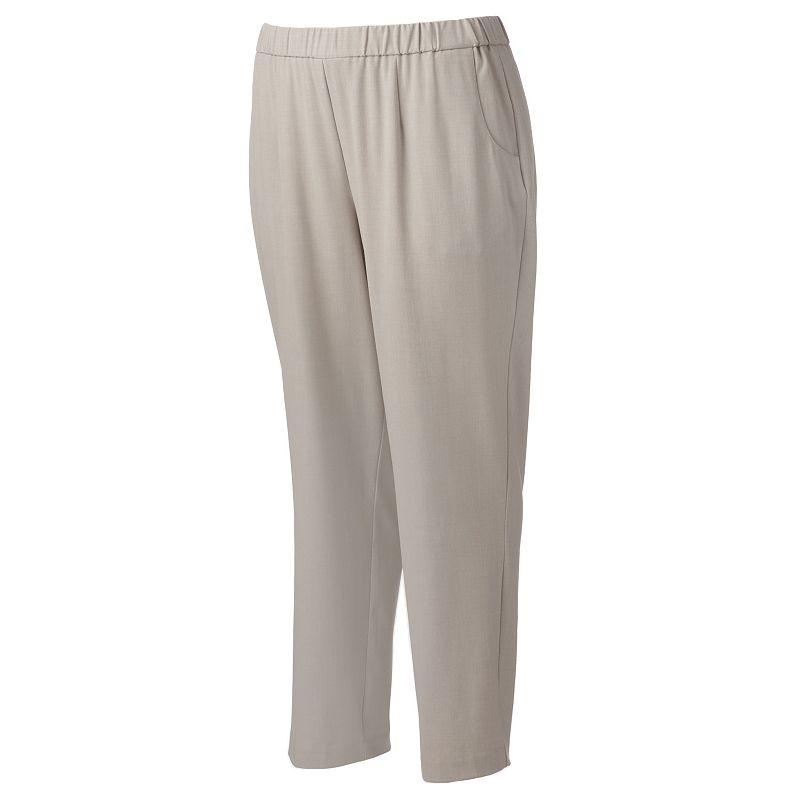 Plus Size Croft & Barrow® Career Straight-Leg Pants