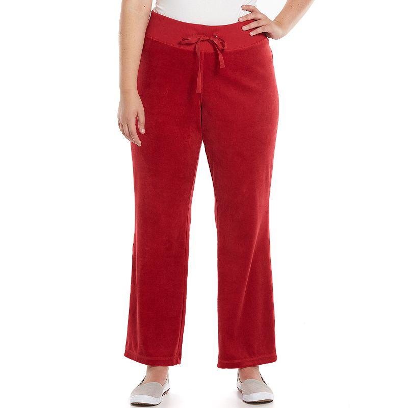 Plus Size Tek Gear® Fit & Flare Velour Lounge Pants
