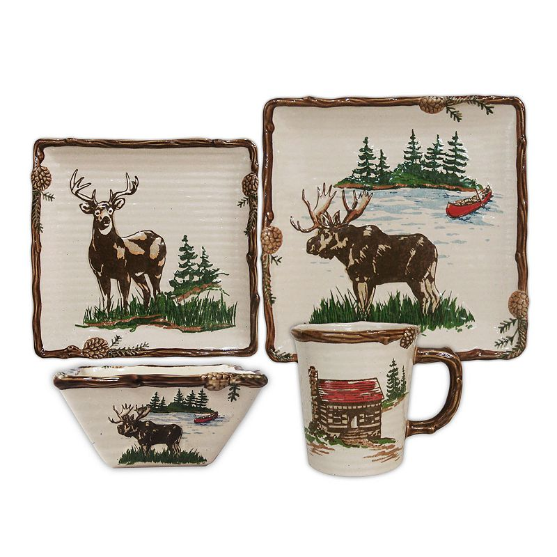 SONOMA Goods for Life™ Lodge 16-pc. Square Dinnerware Set