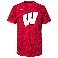 Boys 4-7 adidas Wisconsin Badgers Mark My Words Climalite Tee