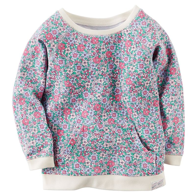 Baby Girl Carter's Floral French Terry Tunic