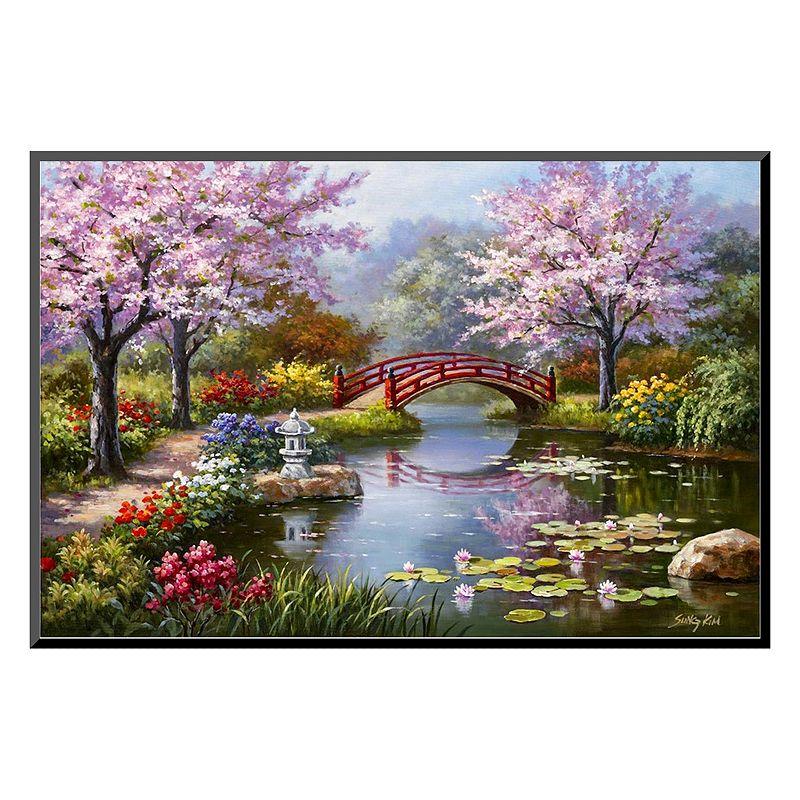 Art.com ''Japanese Garden in Bloom'' Wall Art