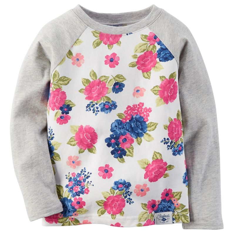 Baby Girl Carter's Raglan Floral Graphic Tee