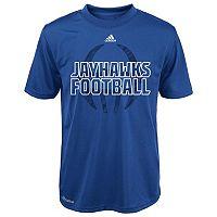 Boys 4-7 adidas Kansas Jayhawks Sideline Helmet Shock Energy Tee