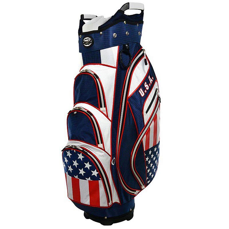 Hot-Z United States Flag Cart Golf Bag