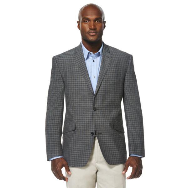 Men's Savane Charcoal Plaid Sport Coat