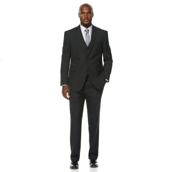 Men's Savane Shadow Plaid Wrinkle-Resistant Suit Jacket