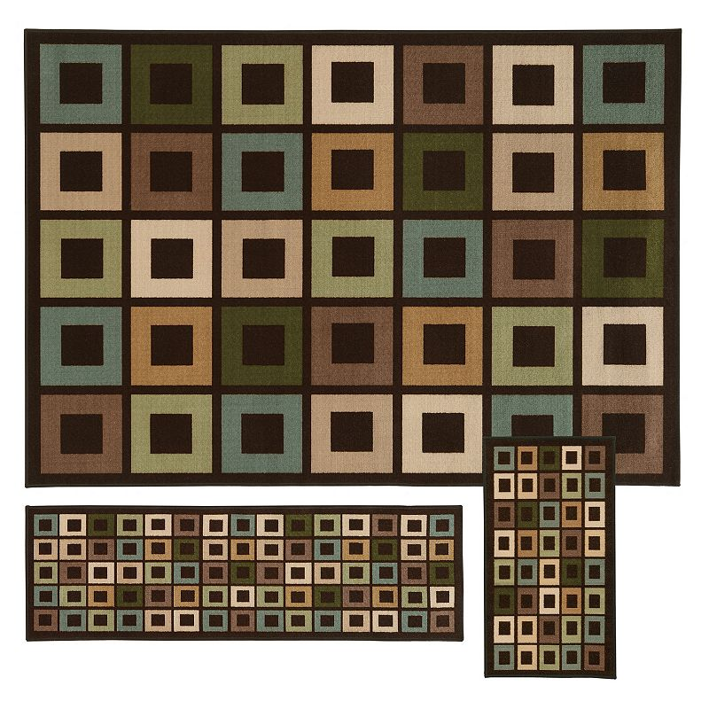 StyleHaven Treble Geometric 3-pc. Rug Set
