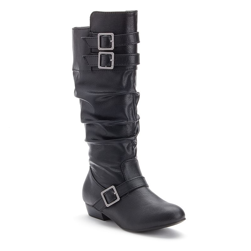 Candie's® Girls' Strappy Slouch Boots