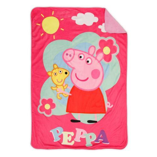 Peppa Pig Coral Plush Reversible Blanket