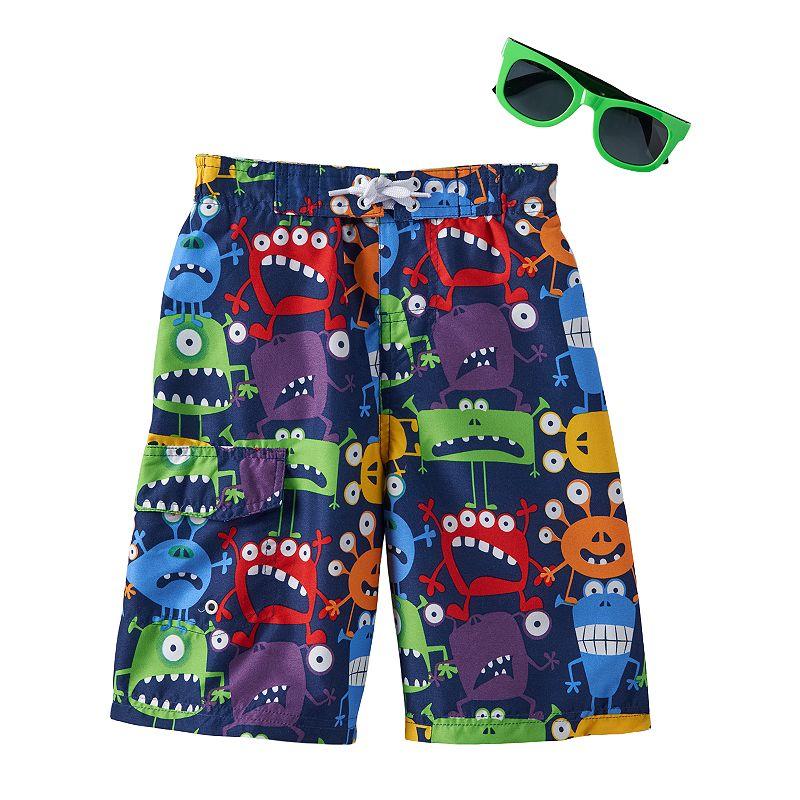 Boys 4-7 Hollywood Jeans Monsters Swim Trunks