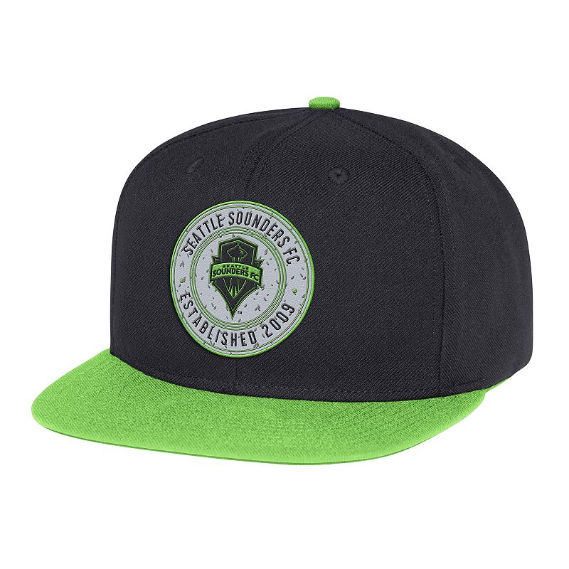 Adult adidas Seattle Sounders Structured Adjustable Cap