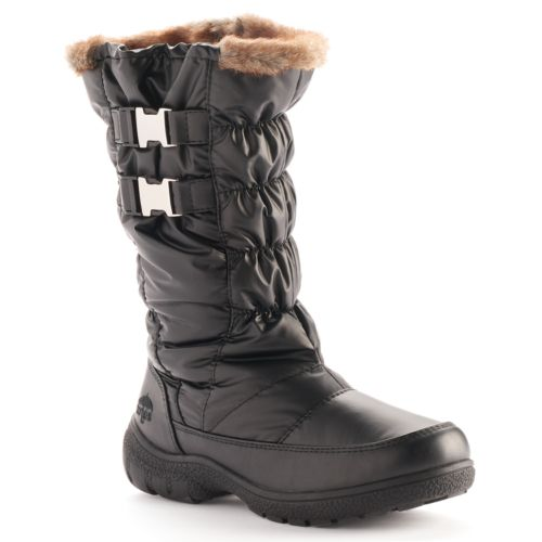 Totes Bunny Women's Quilted Buckle Waterproof Winter Boots