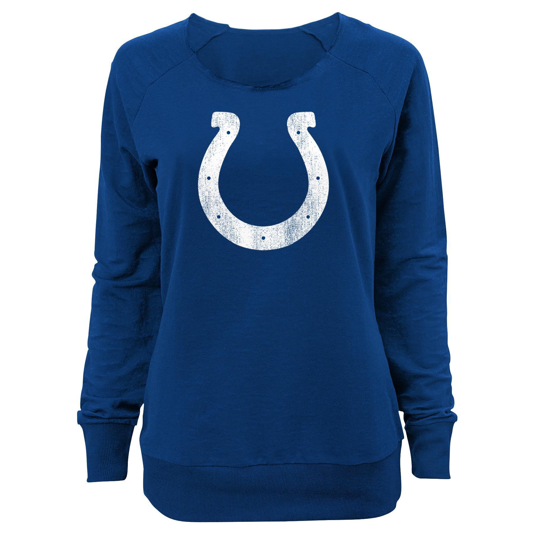 Juniors Indianapolis Colts Off-Shoulder Sweatshirt